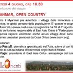 Turismo Responsabile in Birmania: se ne parla a Milano il 4 giugno