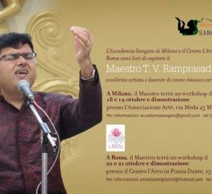 A Milano e a Roma un Maestro di canto del Karnataka