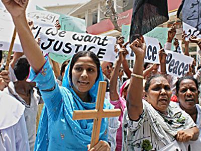 PAKISTAN CHRISTIANS PROTEST