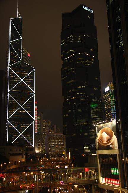 Uno scorcio notturno di Hong Kong. Foto di Marco Restelli