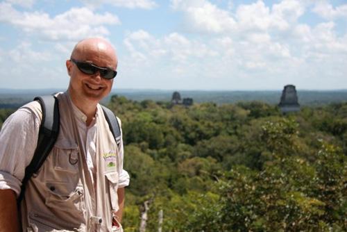 Marco Restelli sulla piramide Maya dove furono girate alcune scene di Star Wars
