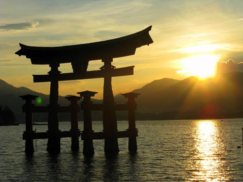 Tramonto giapponese. Foto di Dario P.