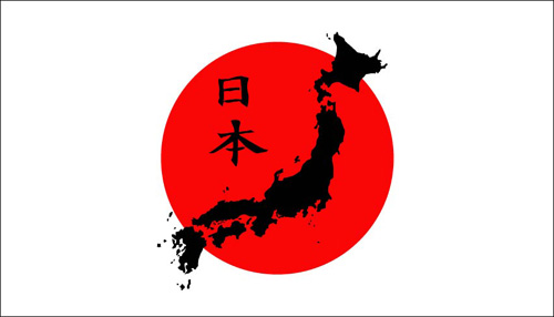 Japan country image on flag