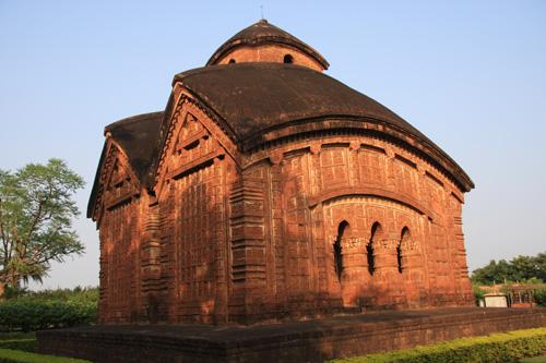 Jhor Bangla Temple, Bishnupur, West Bengal. Foto di Marco Restelli