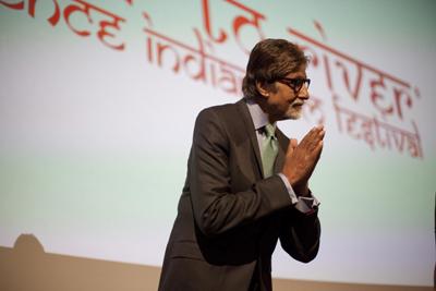 La superstar di Bollywood Amitabh Bachchan al R2R nel 2012