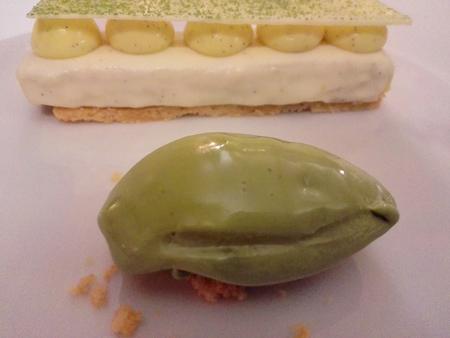 Crosta di Vaniglia e gelato al Macha
