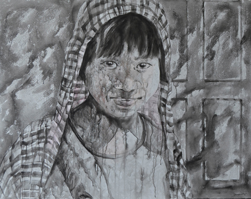 Khin Zaw Latt, What is the Future (4), 2015