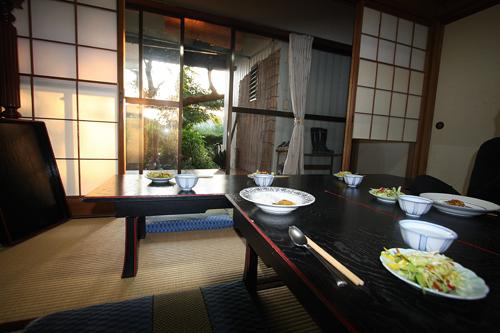 La sala da pranzo del monastero zen soto Tenryuji (prefettura di Fukui). Foto di Elena Bianco
