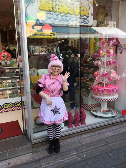 Una ragazza vestita in stile kawaii nel quartiere di Harajuku, Tokyo. Copyright Marco Restelli