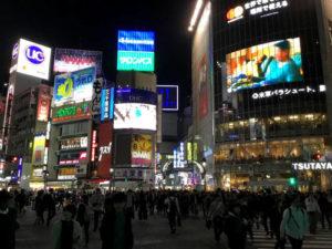 Le luci e il passaggio pedonale di Shibuya a Tokyo. Copyright Marco Restelli