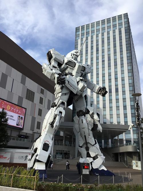 Statua di Gundam a Odaiba, Tokyo. Foto di Marco Restelli