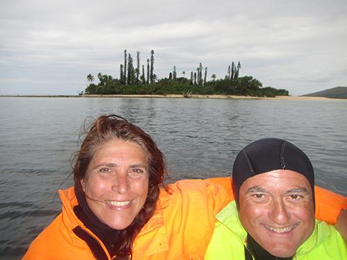 Elena Bianco e Marco Restelli in Nuova Caledonia