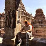 Marco Restelli a Pattadakal, Karnataka, India