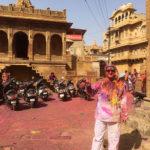 Marco Restelli durante Holi a Jaisalmer, Rajastha, India