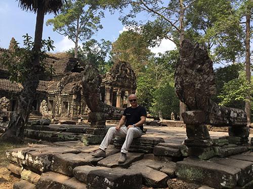 Marco Restelli ad Angkor, Cambogia